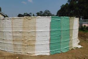 The Water Project: Namushiya Primary School -  Plaster Preparation
