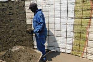 The Water Project: Namushiya Primary School -  Plastering Inside