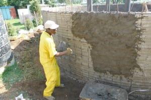 The Water Project: Namushiya Primary School -  Plastering Outside