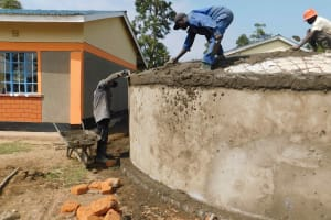 The Water Project: Namushiya Primary School -  Plastering Dome