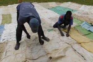 The Water Project: Namushiya Primary School -  Preparing Dome
