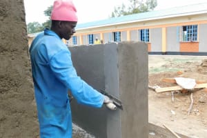 The Water Project: Namushiya Primary School -  Latrine Almost Done