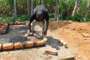 The Water Project: Namushiya Primary School -  Latrine Brickwork