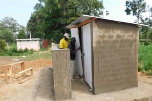 The Water Project: Namushiya Primary School -  Latrine Doors