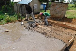 The Water Project: Namushiya Primary School -  Latrine Foundation