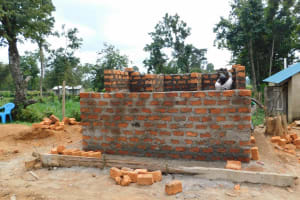 The Water Project: Namushiya Primary School -  Latrine Getting Bigger