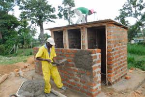 The Water Project: Namushiya Primary School -  Latrine Plastering