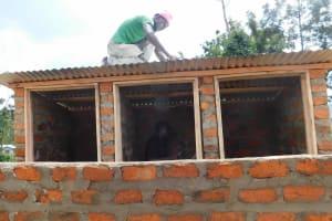 The Water Project: Namushiya Primary School -  Latrine Roofing