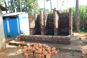 The Water Project: Namushiya Primary School -  Latrine Walls