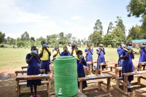 The Water Project: Namushiya Primary School -  Adjusting Masks