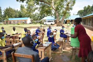 The Water Project: Namushiya Primary School -  Handwashing Practice