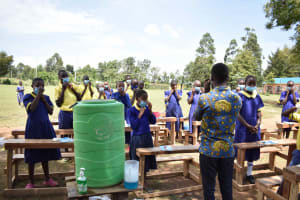 The Water Project: Namushiya Primary School -  Mask Wearing