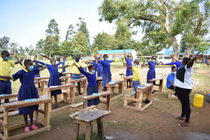 The Water Project: Namushiya Primary School -  Physical Distancing