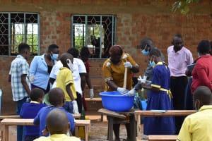 The Water Project: Namushiya Primary School -  Watching Soapmaking