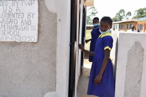 The Water Project: Namushiya Primary School -  Girls At Their Latrine