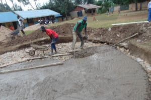 The Water Project: St. Elizabeth Shipala Primary School -  Foundation Concrete