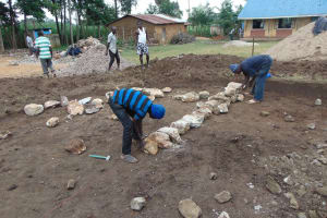 The Water Project: St. Elizabeth Shipala Primary School -  Foundation Laying