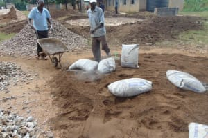 The Water Project: St. Elizabeth Shipala Primary School -  Mixing Cement