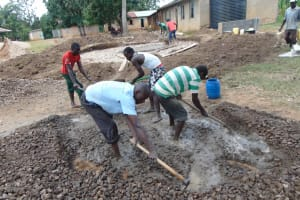 The Water Project: St. Elizabeth Shipala Primary School -  Mixing Concrete