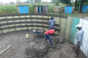 The Water Project: St. Elizabeth Shipala Primary School -  Plaster Works