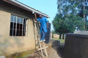 The Water Project: St. Elizabeth Shipala Primary School -  Guttering