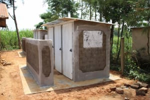 The Water Project: St. Elizabeth Shipala Primary School -  Completed Latrines
