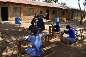 The Water Project: St. Elizabeth Shipala Primary School -  Contactless Greeting