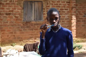 The Water Project: St. Elizabeth Shipala Primary School -  Hilary Brushes Teeth