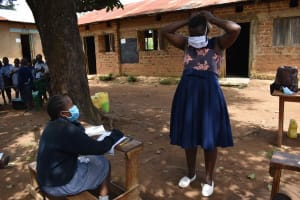 The Water Project: St. Elizabeth Shipala Primary School -  Mask Wearing