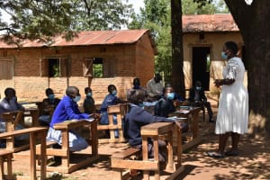 The Water Project: St. Elizabeth Shipala Primary School -  Training In Progress