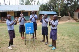 The Water Project: St. Elizabeth Shipala Primary School -  Boys Handwashing