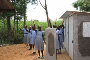 The Water Project: St. Elizabeth Shipala Primary School -  Girls At Their Latrine