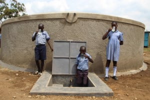 The Water Project: St. Elizabeth Shipala Primary School -  Not Thirsty Anymore