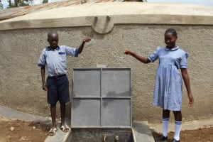 The Water Project: St. Elizabeth Shipala Primary School -  Students At Tank
