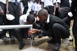 The Water Project: Shamberere Boys' High School -  Fresh Clean Water