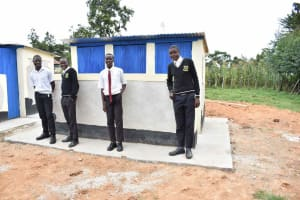 The Water Project: Shamberere Boys' High School -  The Complete Latrine