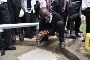 The Water Project: Shamberere Boys' High School -  The New Borehole
