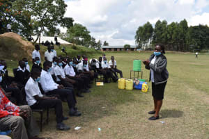 The Water Project: Shamberere Boys' High School -  Facilitator Gives Thanks