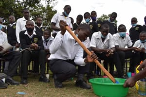 The Water Project: Shamberere Boys' High School -  Soapmaking