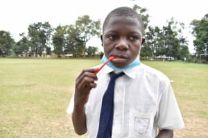 The Water Project: Shamberere Boys' High School -  Students Brushing Teeth
