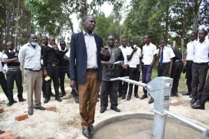 The Water Project: Shamberere Boys' High School -  Pricipal Addresses Students