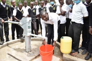 The Water Project: Shamberere Boys' High School -  Collecting Water