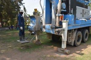The Water Project: Bukhakunga Primary School -  Drilling Rig Set Onsite At Bukhakunga