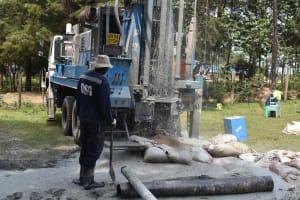 The Water Project: Bukhakunga Primary School -  Flashing Process