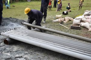 The Water Project: Bukhakunga Primary School -  Rods Removal From The Borehole