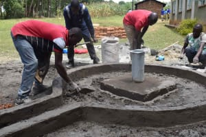 The Water Project: Bukhakunga Primary School -  Plaster Works