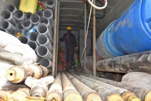 The Water Project: Bukhakunga Primary School -  Drilling Materials Casings
