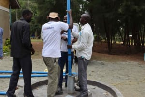 The Water Project: Bukhakunga Primary School -  Pump Installation