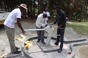 The Water Project: Bukhakunga Primary School -  Handle Fixing