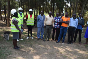 The Water Project: Bukhakunga Primary School -  Ground Breaking With Prayer